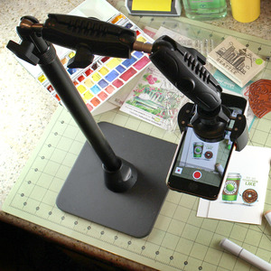 HD8RV29 아콘 ARKON 프로 폰 스탠드 - 1인 미디어 BJ & 개인 방송용 Pro Phone Stand for Live Streaming Baking Crafting Stamping and Art or Tutorial Videos